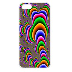 Fractal Background Pattern Color Apple Iphone 5 Seamless Case (white)