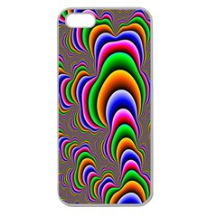 Fractal Background Pattern Color Apple Seamless Iphone 5 Case (clear)