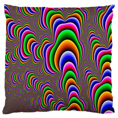 Fractal Background Pattern Color Large Flano Cushion Case (two Sides)