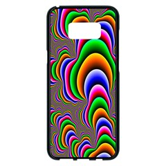 Fractal Background Pattern Color Samsung Galaxy S8 Plus Black Seamless Case
