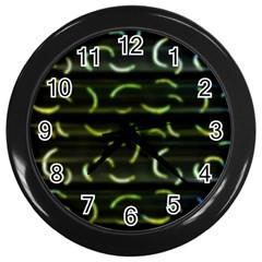 Abstract Dark Blur Texture Wall Clocks (black)