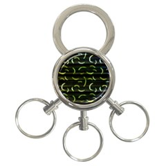 Abstract Dark Blur Texture 3 Ring Key Chains