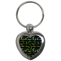 Abstract Dark Blur Texture Key Chains (heart)