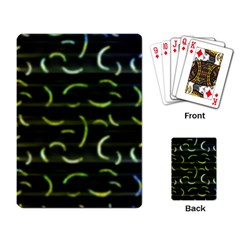 Abstract Dark Blur Texture Playing Card
