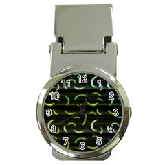 Abstract Dark Blur Texture Money Clip Watches