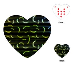 Abstract Dark Blur Texture Playing Cards (heart)