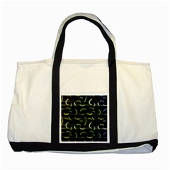 Abstract Dark Blur Texture Two Tone Tote Bag