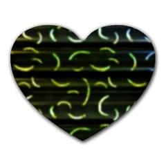 Abstract Dark Blur Texture Heart Mousepads