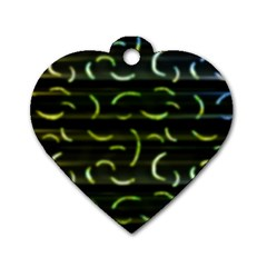 Abstract Dark Blur Texture Dog Tag Heart (two Sides)