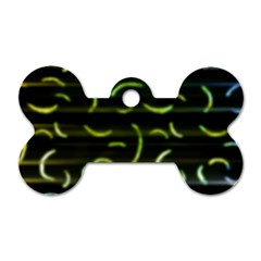 Abstract Dark Blur Texture Dog Tag Bone (one Side)
