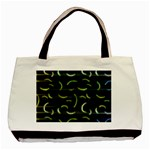 Abstract Dark Blur Texture Basic Tote Bag (Two Sides) Back