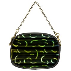 Abstract Dark Blur Texture Chain Purses (two Sides)