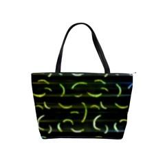 Abstract Dark Blur Texture Shoulder Handbags