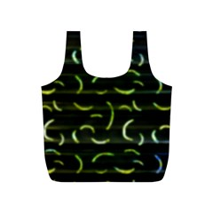 Abstract Dark Blur Texture Full Print Recycle Bags (s)