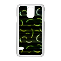 Abstract Dark Blur Texture Samsung Galaxy S5 Case (white)