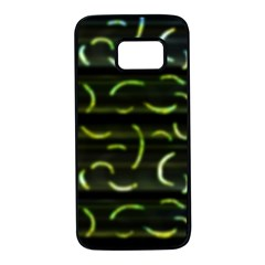 Abstract Dark Blur Texture Samsung Galaxy S7 Black Seamless Case