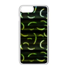 Abstract Dark Blur Texture Apple Iphone 7 Plus Seamless Case (white)