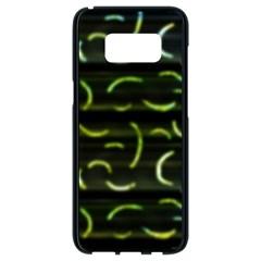 Abstract Dark Blur Texture Samsung Galaxy S8 Black Seamless Case