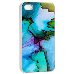Abstract Painting Art Apple Iphone 4/4s Seamless Case (white)