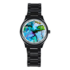 Abstract Painting Art Stainless Steel Round Watch