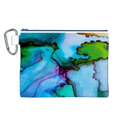 Abstract Painting Art Canvas Cosmetic Bag (l)