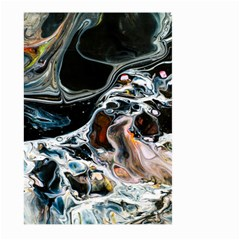 Abstract Flow River Black Large Garden Flag (two Sides)