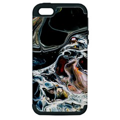 Abstract Flow River Black Apple Iphone 5 Hardshell Case (pc+silicone)