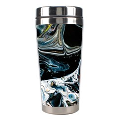 Abstract Flow River Black Stainless Steel Travel Tumblers