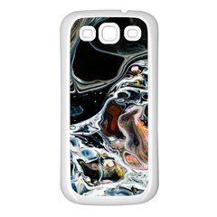 Abstract Flow River Black Samsung Galaxy S3 Back Case (white)