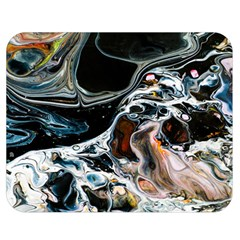 Abstract Flow River Black Double Sided Flano Blanket (medium)