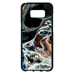 Abstract Flow River Black Samsung Galaxy S8 Plus Black Seamless Case