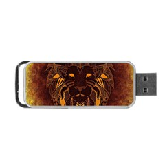 Lion Wild Animal Abstract Portable Usb Flash (two Sides)