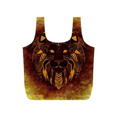 Lion Wild Animal Abstract Full Print Recycle Bags (s)