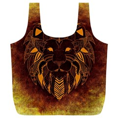 Lion Wild Animal Abstract Full Print Recycle Bags (l)