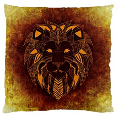 Lion Wild Animal Abstract Large Flano Cushion Case (two Sides)
