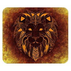Lion Wild Animal Abstract Double Sided Flano Blanket (small)