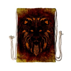 Lion Wild Animal Abstract Drawstring Bag (small)