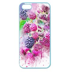 Blackberry Fruit Art Abstract Apple Seamless Iphone 5 Case (color)