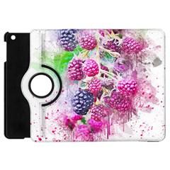 Blackberry Fruit Art Abstract Apple Ipad Mini Flip 360 Case