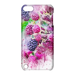 Blackberry Fruit Art Abstract Apple Ipod Touch 5 Hardshell Case With Stand