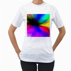 Creativity Abstract Alive Women s T Shirt (white)