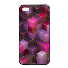 Cube Surface Texture Background Apple Iphone 4/4s Seamless Case (black)