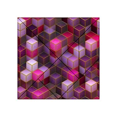 Cube Surface Texture Background Acrylic Tangram Puzzle (4  X 4 )