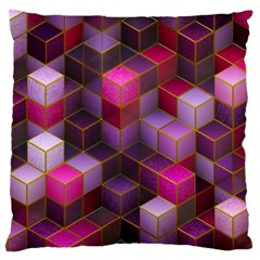 Cube Surface Texture Background Large Cushion Case (one Side)
