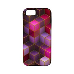 Cube Surface Texture Background Apple Iphone 5 Classic Hardshell Case (pc+silicone)