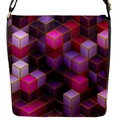 Cube Surface Texture Background Flap Messenger Bag (s)