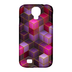 Cube Surface Texture Background Samsung Galaxy S4 Classic Hardshell Case (pc+silicone)