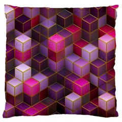 Cube Surface Texture Background Standard Flano Cushion Case (two Sides)