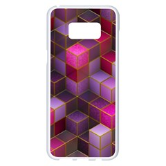 Cube Surface Texture Background Samsung Galaxy S8 Plus White Seamless Case