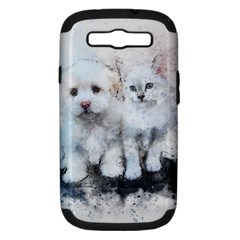 Cat Dog Cute Art Abstract Samsung Galaxy S Iii Hardshell Case (pc+silicone)